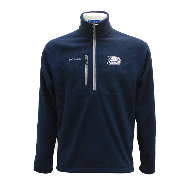 Image For Columbia Navy Fast Trek 1/2 Zip Fleece w/Athletic Logo
