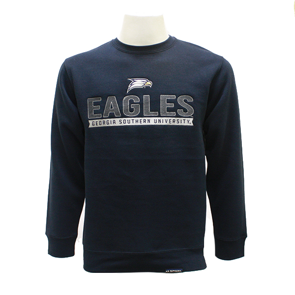 Image For CI Sport Navy Crew w/GSU/Eagles/Eagle Head