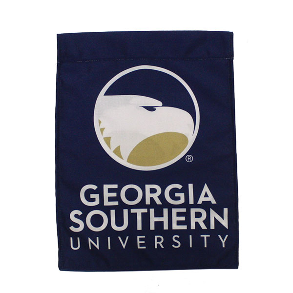 "Image For 11"" x 16"" Navy Garden Flag w/Academic Logo"