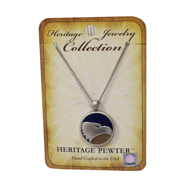 Image For Heritage Pewter Polished Silver Necklace w/Academic Logo