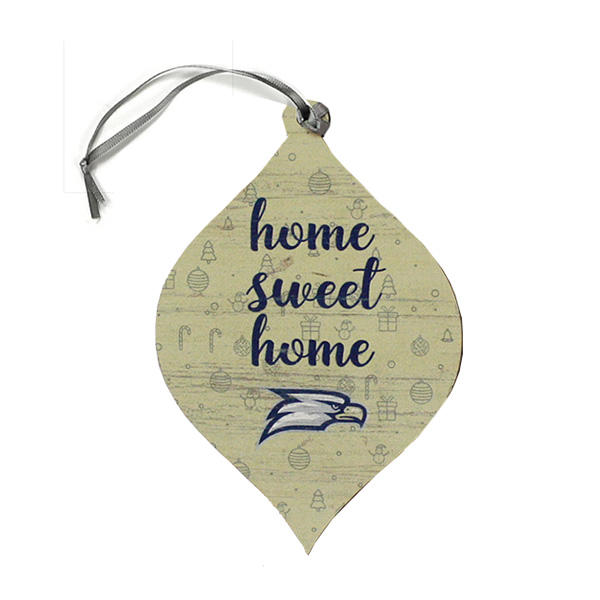 Image For Legacy Teardrop Ornament w/Eagle Head/Home Sweet Home