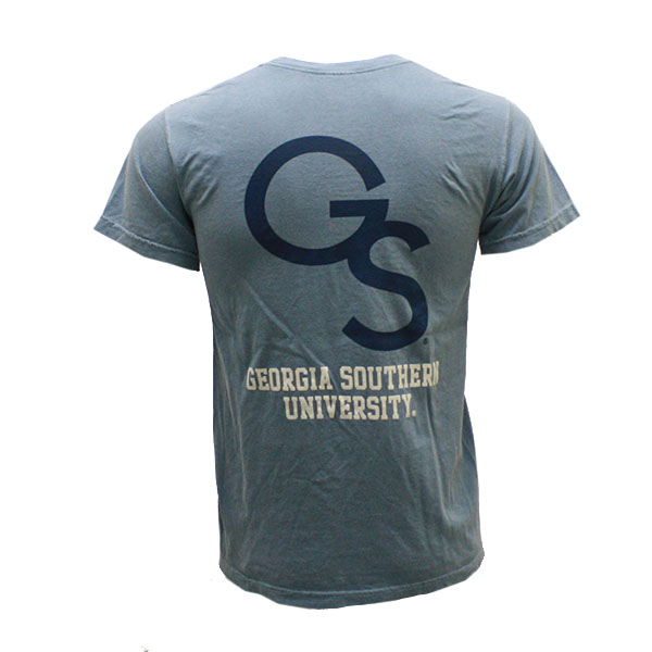 Image For Comfort Colors Blue T-Shirt w/GS/GSU On Back