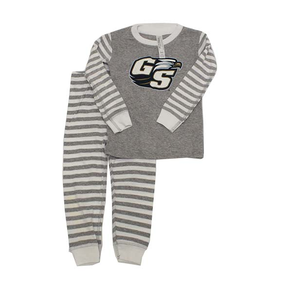 Image For Gray and White Pajama Set w/Secondary Logo