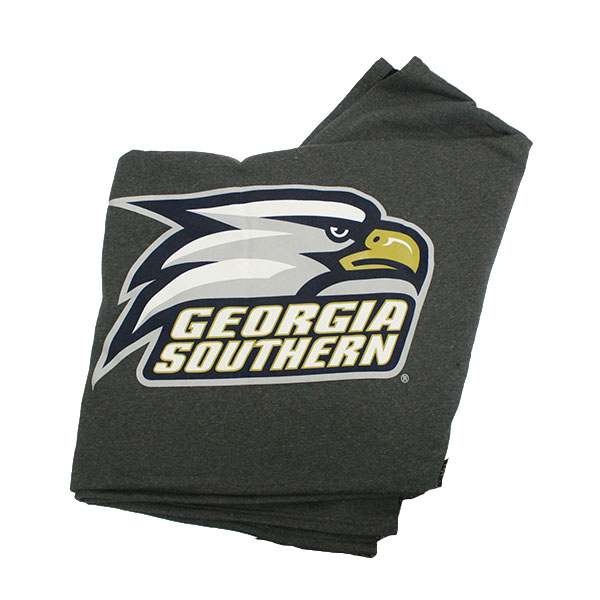 Cover Image For MV Sport Gray Sweatshirt Blanket w/Athletic Logo 54X84""