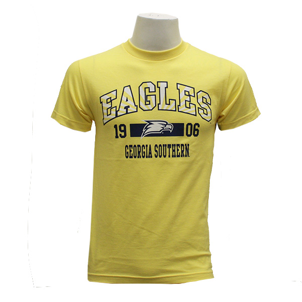 Image For CI Sport Yellow T-Shirt w/Eagles/1906/Eagle Head/GASO