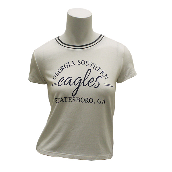 Image For League Cream Ladies Crop Top w/GASO/Eagles