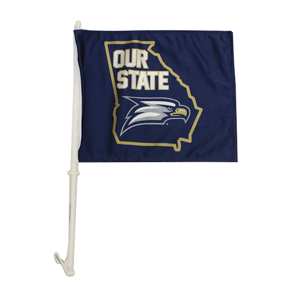 Image For Car Flag w/Our State/Eagle Head