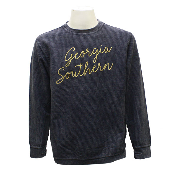 Image For Pressbox Navy Ladies Crew Sweather w/GASO