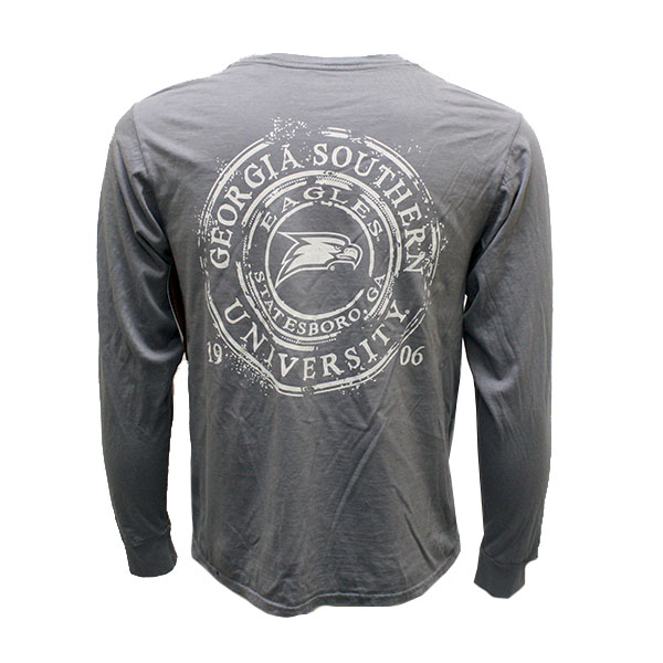 Image For Blue84 Gray Long Sleeve T-Shirt w/GASO/Eagle Head