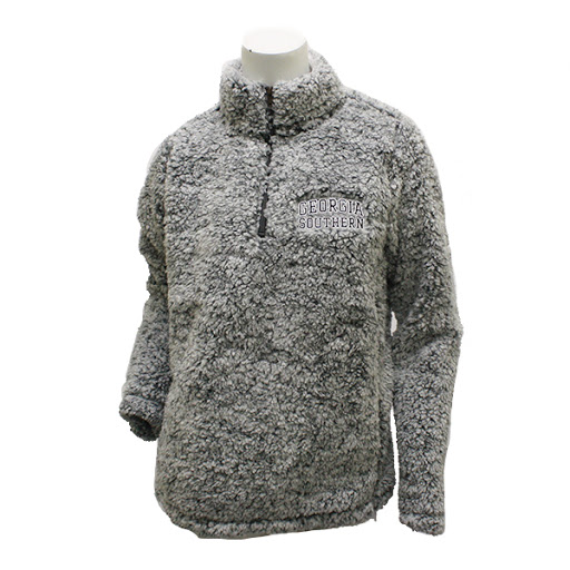 Image For MV Sport Grey Sherpa Quarter Zip w/GASO
