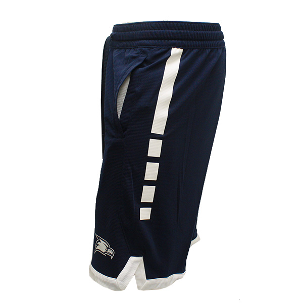 Image For Nike Navy Stripped Jersey Shorts