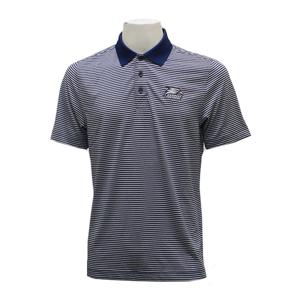 Image For CB Navy/White Stripe Polo w/Athletic Logo