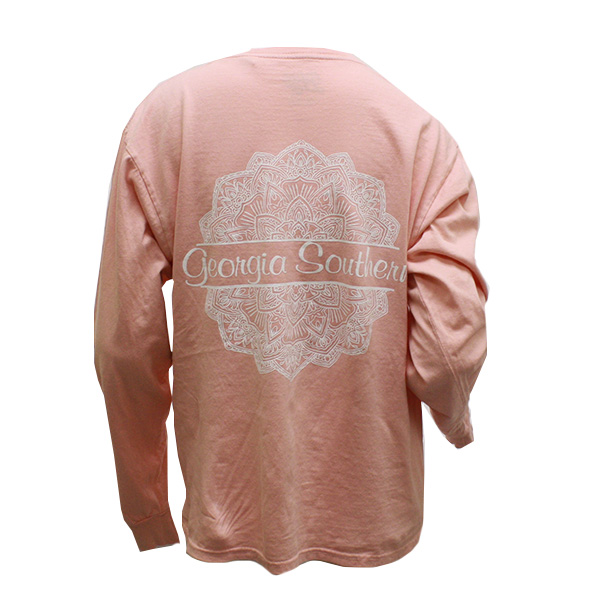 Image For Coral Floral Print Long Sleeve T-Shirt