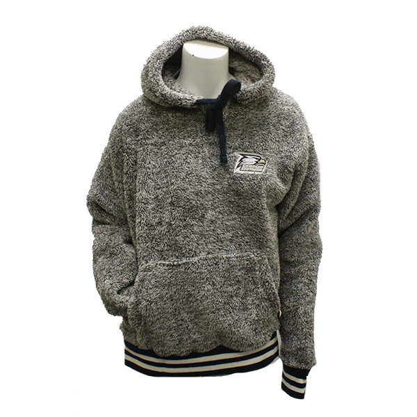 Image For Pressbox Grey Fleece Hoodie w/Athletic Logo