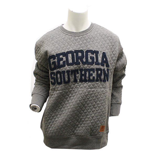 Cover Image For Pressbox Ladies Gray Quilted Crew