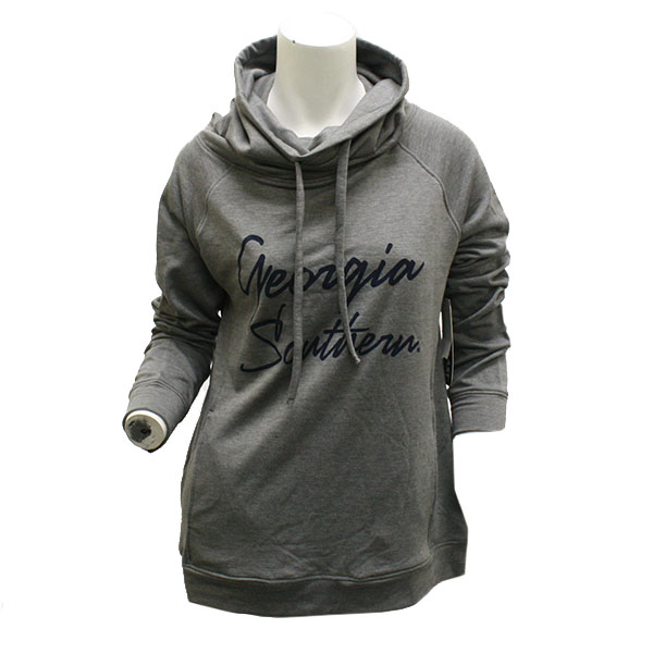 Image For Ladies Gray High Neck Hoodie