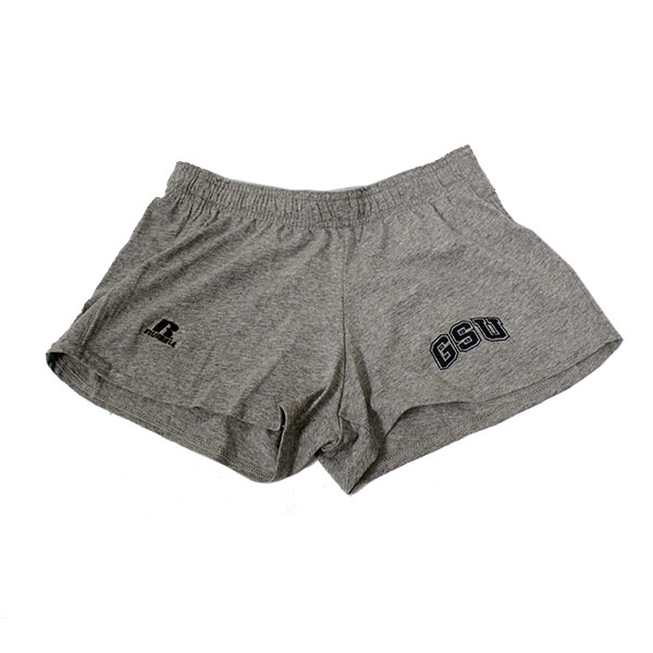 Image For Russell Athletic Grey Ladies Shorts w/GSU