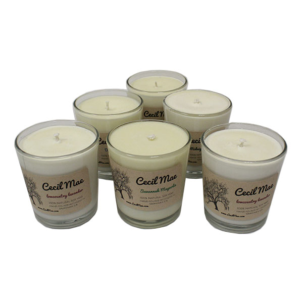 Cover Image For Cecil Mae 8OZ Soy Wax Candle-Savannah Magnolia