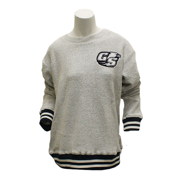 Image For Pressbox Cream Ladies Crew Sweather w/Secondary Logo