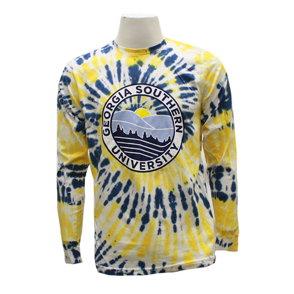 Cover Image For Yellow and Blue Tie-Dye GASO Long Sleeve T-Shirt