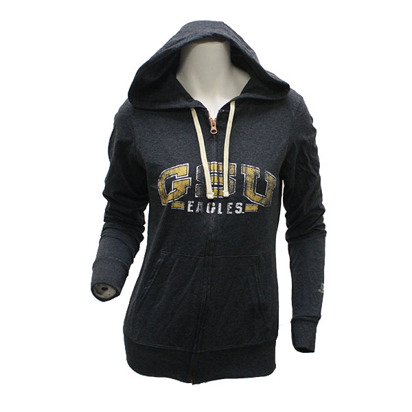 Image For Russell Athletic Charcoal GSU Zip Hoodie