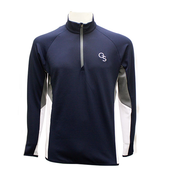 Image For Cutter & Buck Navy and Gray GS 1/2 Zip Jacket