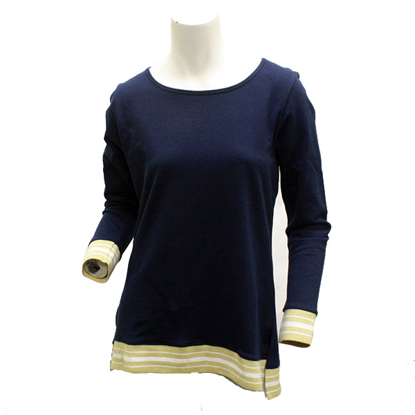 Image For UG Apparel Navy Ladies Long Sleeve Top