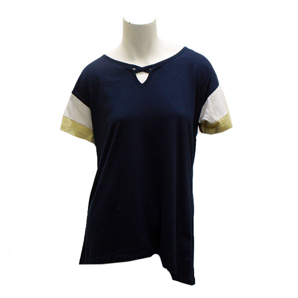 Image For UG Apparel Navy Ladies ColorBlock Top