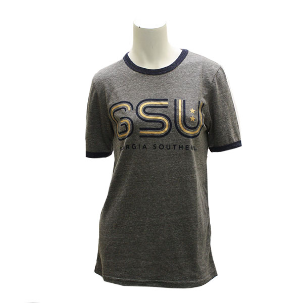 Image For Ladies Gray GSU Star T-Shirt