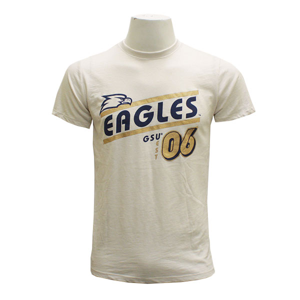 Image For Ivory/Gold Ladies Eagles T-Shirt w/Eagle Head
