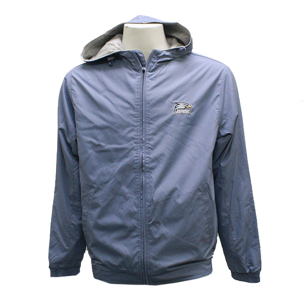 Image For Mv Sport Blue Drawstring Hooded Jacket w/Eagle Head