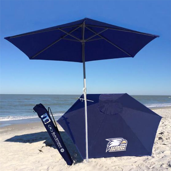 Image For Navy GASO Beach Umbrella w/Athletic Logo