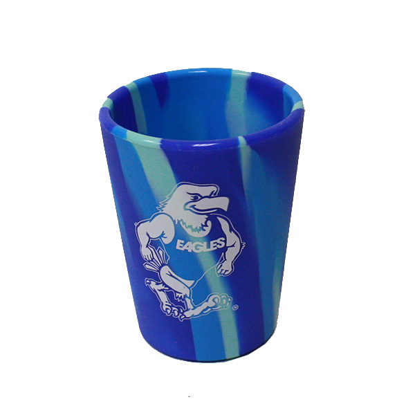 Image For 1.5 oz  Blue Silicone Gus Shot Glass