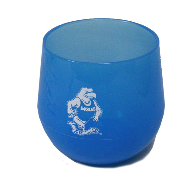 Image For 14 oz. Blue Silicone Gus Stemless Wine Glass