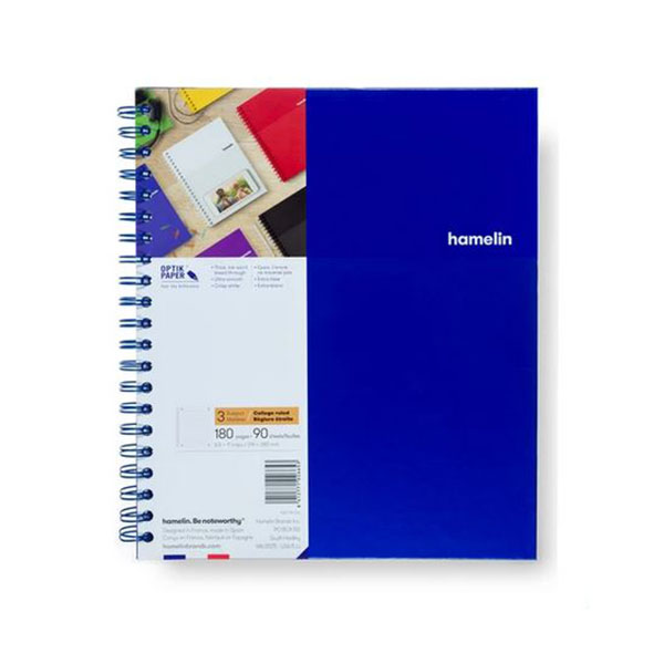 "Image For 3 Subject Spiral Notebooks - 8.5""x11"" Blue"