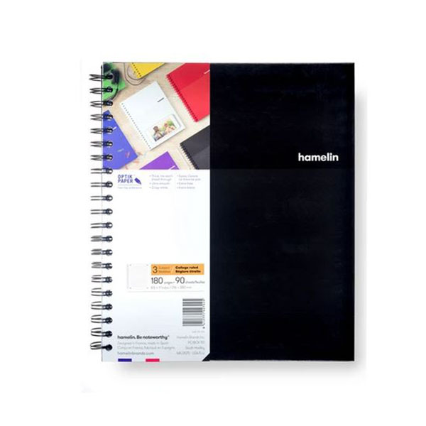 "Image For 3 Subject Spiral Notebooks - 8.5""x11"" Black"