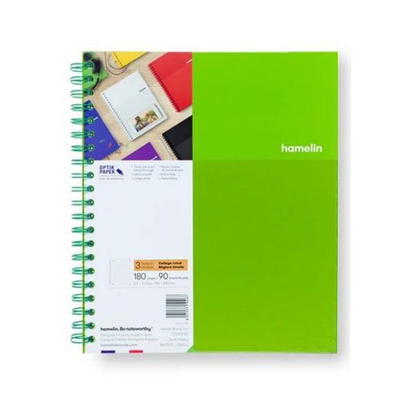 "Image For 3 Subject Spiral Notebooks - 8.5""x11"" Green"