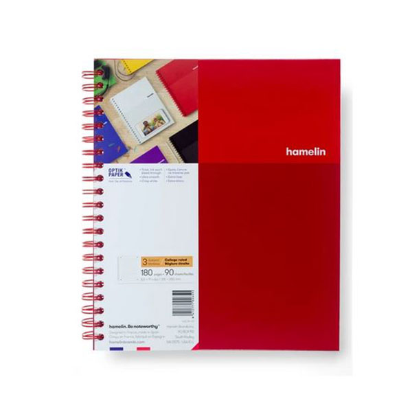 "Image For 3 Subject Spiral Notebooks - 8.5""x11"" Red"
