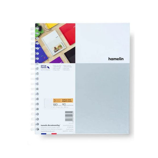 "Image For 3 Subject Spiral Notebooks - 8.5""x11"" White"