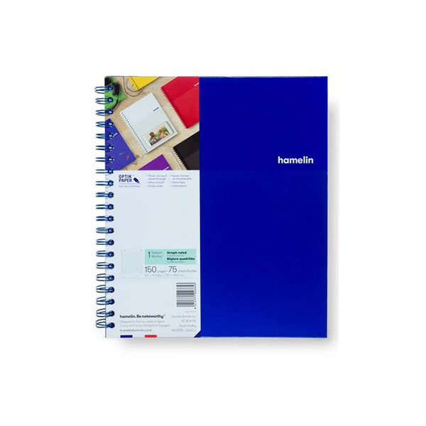 "Image For One Subject College Ruled Spiral Notebooks - 8.5""x11"" Blue"