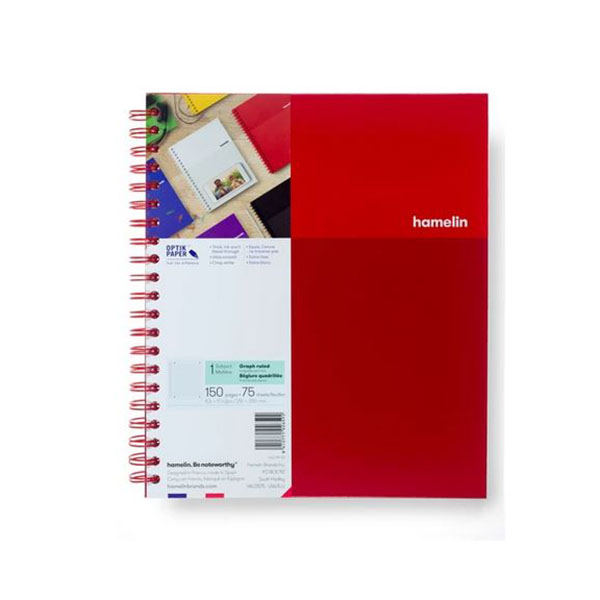 "Image For One Subject College Ruled Spiral Notebooks - 8.5""x11"" Red"