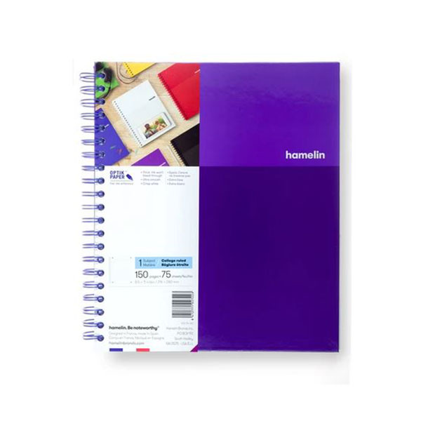 "Image For One Subject College Ruled Spiral Notebooks - 8.5""x11"" Purple"