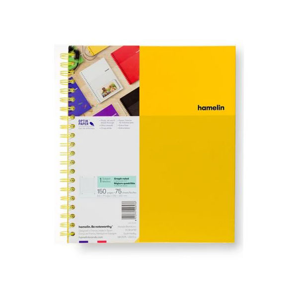 "Image For One Subject College Ruled Spiral Notebooks - 8.5""x11"" Yellow"