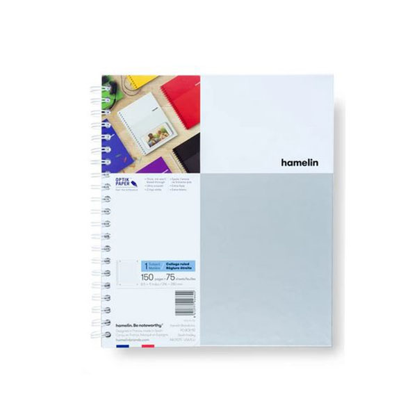 "Image For One Subject College Ruled Spiral Notebooks - 8.5""x11"" White"