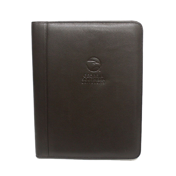 Image For Brown Leather Padholder w/Academic Logo