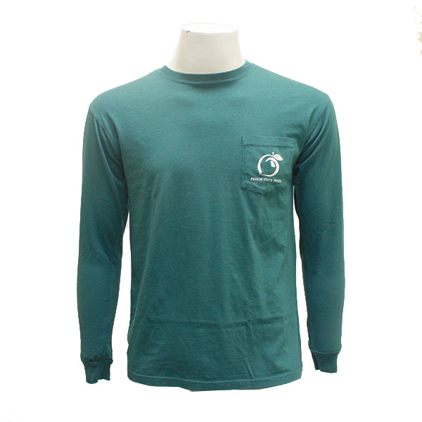 Image For Emerald Peach State Pride Long Sleeve T-Shirt