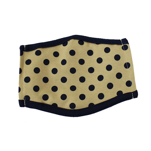 Image For Gold and Navy Polka Dot Face Mask