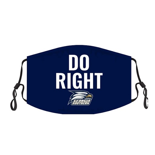 "Image For Navy ""Do Right"" Face Mask w/Athletic Logo"