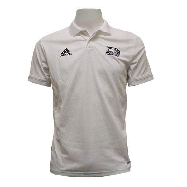 Cover Image For Adidas White Polo w/Athletic Logo