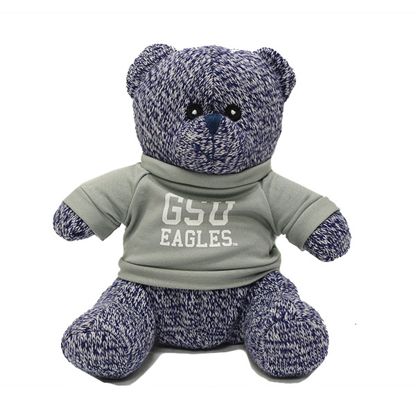 Image For Blue Knitted GSU Bear w/Eagles